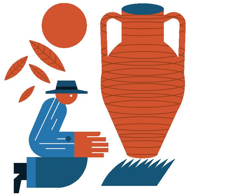 Ceramiche d'artista - Olio extravergine di oliva da regalo